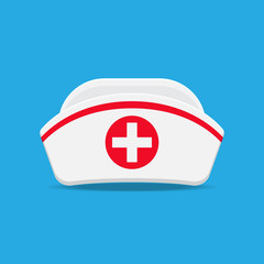 nurse cap vector flat design.