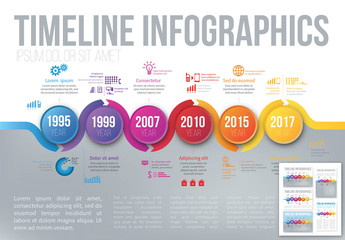 Bright Timeline Infographic 3