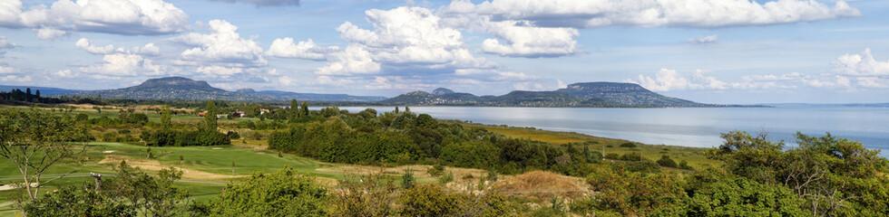 Nice panorama landscape from Hungary (Lake Balaton)