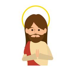 jesuschrist avatar character icon vector illustration design