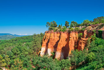 Provence, France - Red Cliffs in Roussillon