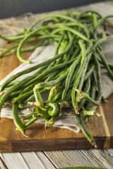 Raw Green Organic Chinese Long Beans