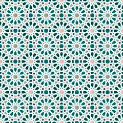 Traditional Arabic geometric seamless pattern.