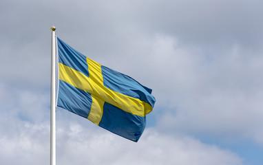 Swedish flag in Stockholm