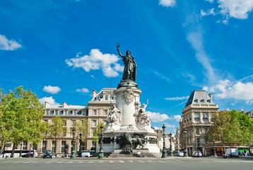 Republic statue in Paris