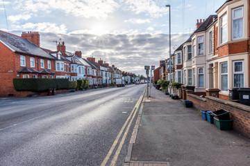 England street sunset morning view Northampton UK