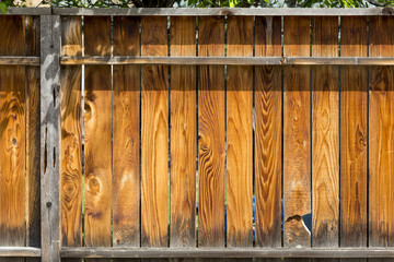 Wooden fence texture with posts