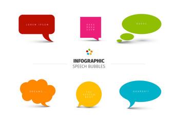 Multicolored Talk Bubble Infographic