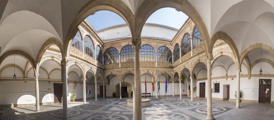Courtyard of Palacio de las Cadenas the city hall, Ubeda. Jaen province, Andalucia, Spain