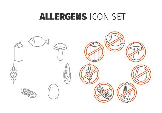 Allergens Icon Set