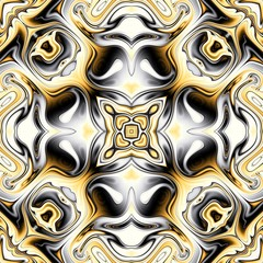 Abstract square background. Symmetric decorative ornament pattern