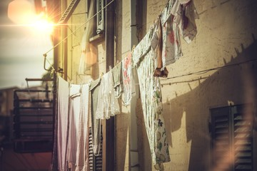 Air-Drying Clothing in the Italy