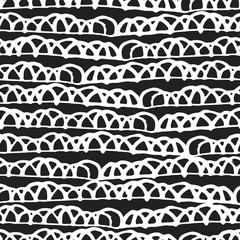 Decorative hand drawn seamless pattern.