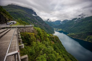 Wall Mural - The Road to Geiranger Norway