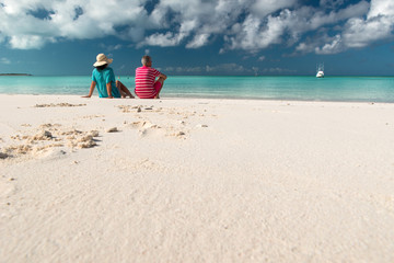 Couple at Caribbean