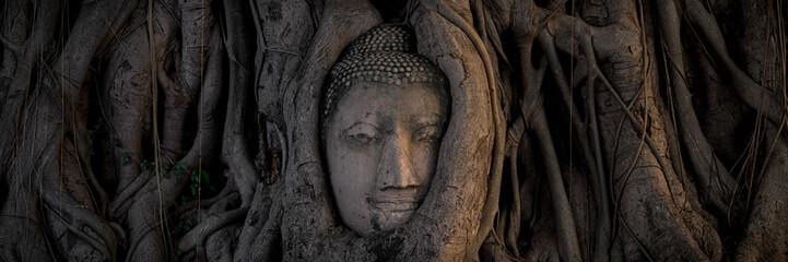 Printed kitchen splashbacks Buddha Buddha head