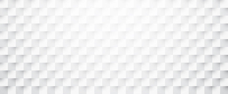 White paper checkered textured banner.