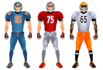 American football players uniform
