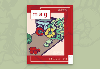 Colorful Magazine Cover Layout 2