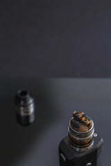 RDA Tank atomizer with head disassembled