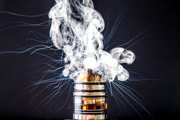 Dissassembled vaporiser vape explosion