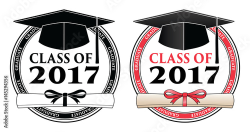 """""""Graduating Class of 2017 - Vector is a design in color or ..."""