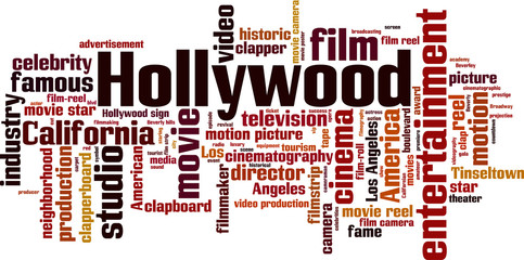 Hollywood word cloud