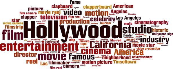 Hollywood word cloud