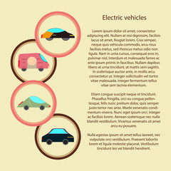 electric vehicles infographic with in a circle