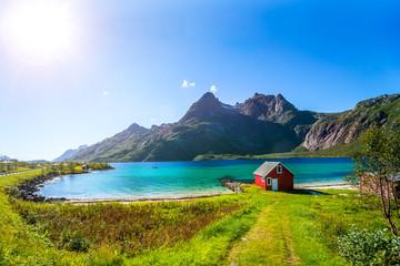 Foto auf Leinwand Skandinavien Trollfjord, Lofoten