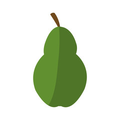 pear fruit icon over white background. colorful design. vector illustration
