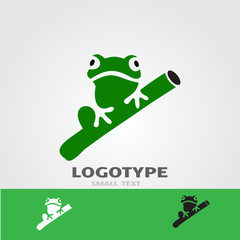 Vector image of an frog design on a white background