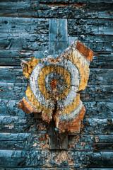 Old wooden target