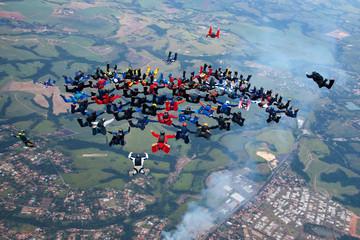 building a 72way skydive
