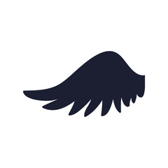 Feathers wing silhouette