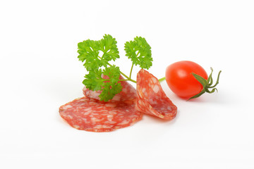 thin slices of salami