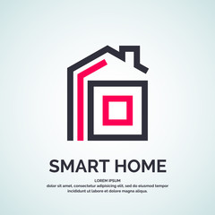 House logo Smart. Vector illustration