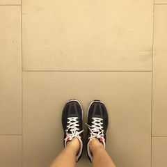 Young legs in sneakers great for any use.