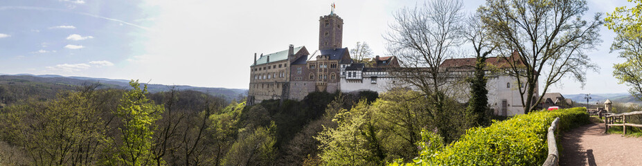 Fotobehang Kasteel wartburg castle eisenach germany high definition panorama