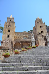 13th century Cefalu Cathedral in Cefalu, Sicily