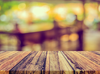 blur image of restaurant with bokeh .