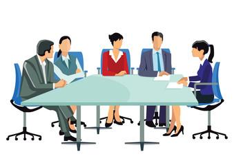 eine Gruppe von Geschäftsleuten beim Meeting