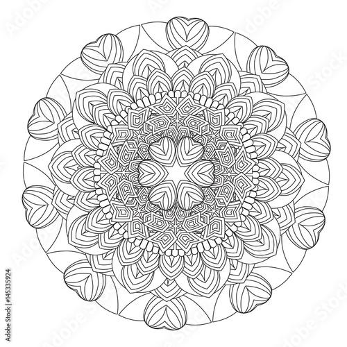 Flower Mandala vector illustration Oriental pattern vintage