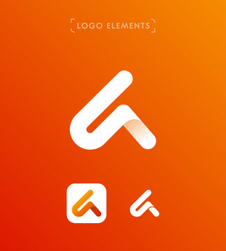 Abstract triangle letter A origami style logo template. Application iconAbstract triangle letter A origami style logo template. Application icon