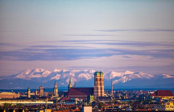 München Stadtpanorama Skyline