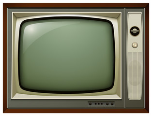 TV isolated, 3D vintage