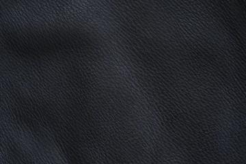 Deerskin as black napa leather