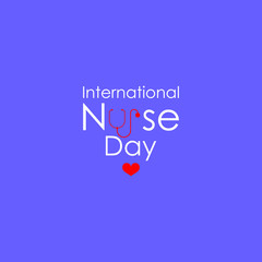 International Nurses Day vector illustration.