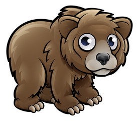 Bear Grizzly Animals Cartoon Character