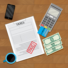 Paying tax web transaction